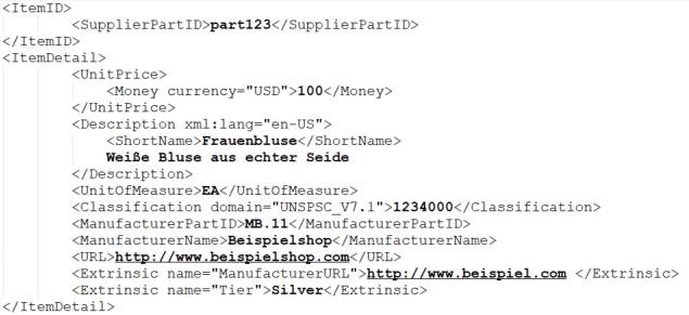 Katalog-Datei im cXML-Format